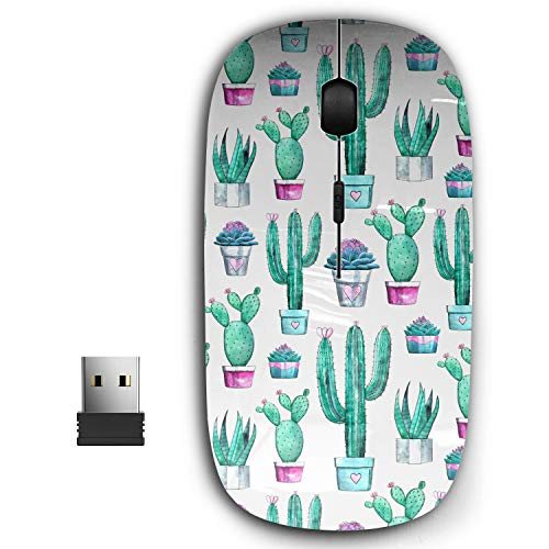 2.4G Ergonomic Portable USB Wireless Mouse for PC, Laptop, Computer, Notebook with Nano Receiver ( Cactus Succulent Hand )