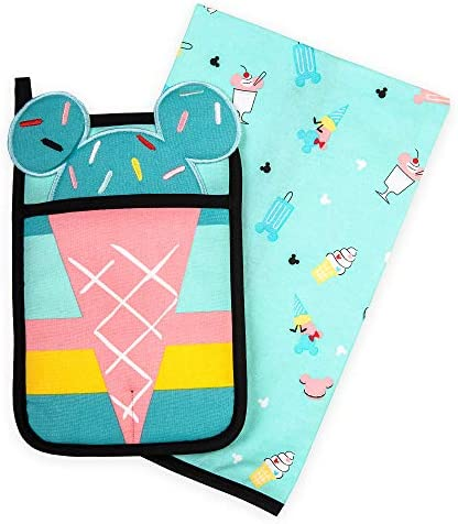 Disney Mickey and Minnie Mouse Pot Holder and Kitchen Towel Set Disney Eats product image