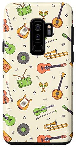 Galaxy S9+ Vintage Music Instruments Guitar Lyre Viola Mandolin Pattern Case