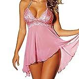 Lethez Women Babydoll Lingerie Strap Chemise Plus Size Sleepwear Halter Nighties...