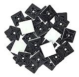 intervisio Juego Soportes Adhesivos para Bridas de Cable 19 mm x 19mm, Clips Adhesivo para las Brida...