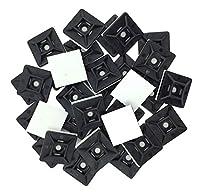 EINFACHE BEFESTIGUNG! Selbstklebende Kabelbindermontagesockel, haftet sehr gut auf glatten Oberflächen, in Kombination mit Nylonkabelbindung um Leitungsbündel zu sichern. Für besten Halt reinigen Sie bitte die Oberfläche mit einem alkoholischen Reini...