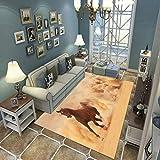 N/U Alfombra Sala De Estar Dormitorio Alfombra Niños Gateando Moderno 3D Impreso Decoración para El Hogar Alfombra Suave Antideslizante E-1496U 180X200Cm