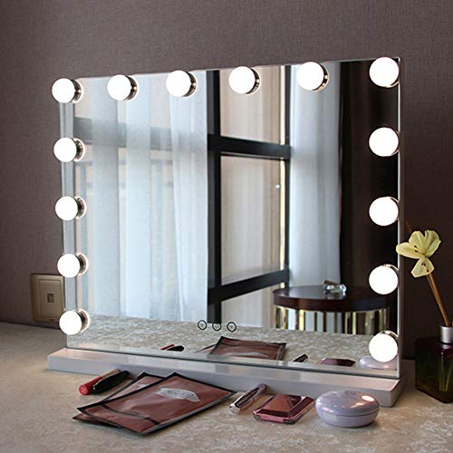 Fenair Makeup Vanity Mirror with Lights USB Outlet for Mobile Phone Hollywood -