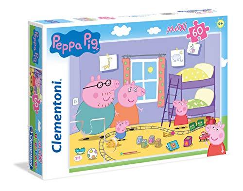 Clementoni Peppa Pig Supercolor Puzzle Maxi, 60 Pezzi, 26438