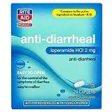Rite Aid Anti-Diarrheal Caplets - 24 Count - 2 mg Loperamide Hydrochloride - Easy-to-Swallow Anti-Diarrhea Pills - Diarrhea Medicine - Diarrhea and Stomach Relief - Control Symptoms of Diarrhea