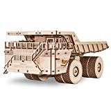 EWA Eco-Wood-Art Models 3D Puzzle for Adults and Teens - Mechanical BELAZ 75710 - Model with Rubber Band Engine - DIY Craft Set, Kit for Self-Assembly, No Glue Required