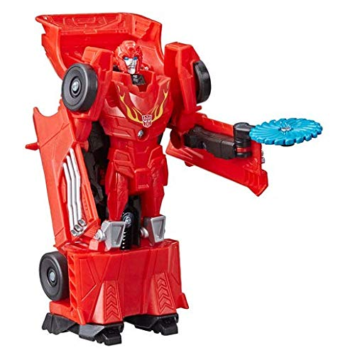 Transformers Toys Cyberverse Action Attackers: 1-Step Changer Autobot Hot Rod Action Figure -- Repeatable Fusion Flame Action Attack Move – For Kids Ages 6 and Up, 4.25-inch