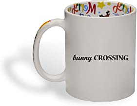 Ceramic Christmas Coffee Mug Bunny Crossing A Animals Farm & Domesticated Funny Tea Cup