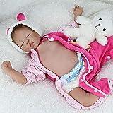 iCradle Poupées 22Inch 55cm Reborn Baby Doll Soft Body Body Couvert Ventre Plate Simulation Réal Dormir Bebe Poupées Reborn en Bas Âge Jouets