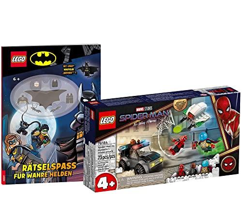 Collectix Lego 76184 Super Heroes - Juego de batalla de dron de Marvel Mysterios en Spider-Man y juego de batman para verdaderos héroes (cubierta blanda)