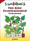 LernSpielZwerge - Mein dicker Konzentrationsblock für die Vorschule