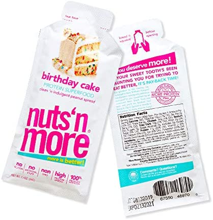 Nuts N More Birthday Cake Peanut Butter Spread All Natural High Protein Nut Butter Healthy Snack product image