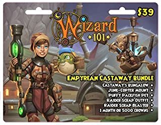 Wizard 101 Empyrean Castaway Bundle Prepaid Game Card