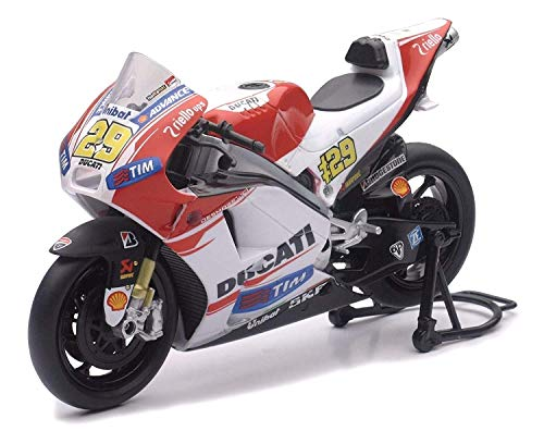 NEW 1:12 NEW RAY MOTORCYCLES COLLECTION - RED DUCATI MOTO GP 2015 DUCATI DESMOSEDICI - ANDREA LANNONE #29 Model Car By NEW RAY TOYS