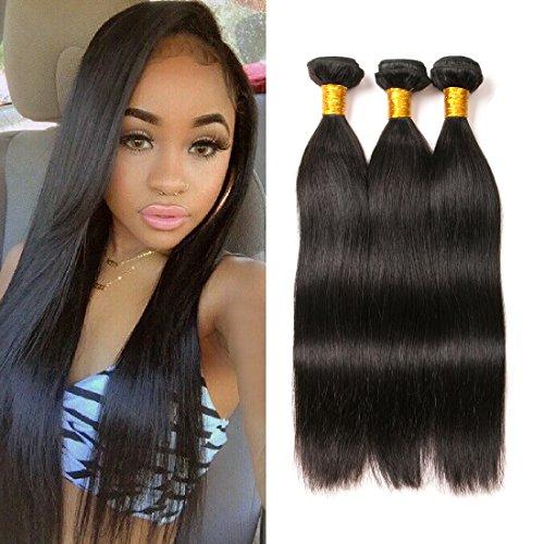 brazilian straight hair lot 3 bundles tissage real naturel human hair weaving lisse court 9a grade 100g/ bundles total 300g(14 16 18 pouces)