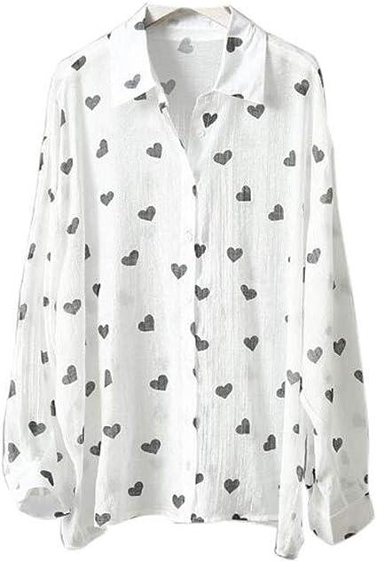 DAFREW Camisa de protección Solar Camisa Fina de Verano ...
