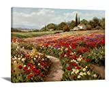 Claude Monet Painting Canvas Wall Art Landscape Painting Monet Poppy Field Poster Impressionist Oil Painting Reproductions For Living Room Ready To Hang Giclee Print Famous Painting Monet