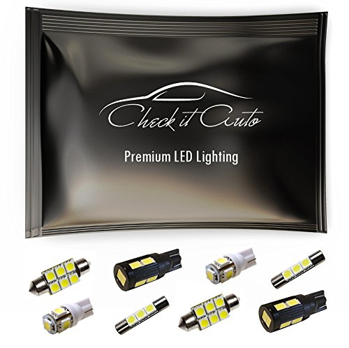 Check it Auto LED Light Kit for Nissan 350z Interior Reverse Package 7pc
