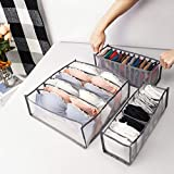 Ordenado Underwear Organizer, Sock Drawer Organizer, Bra Organizer Divider, Folding Closet Storage Box Small Dresser Organizer for Underwear, Socks, Clothes, Stockings, Handkerchiefs, Ties, and Bras