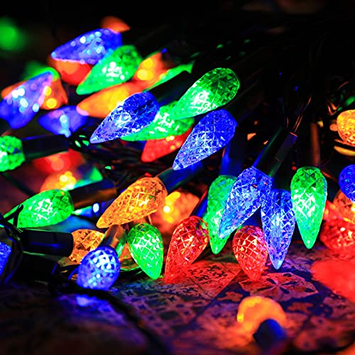 Outdoor Christmas Lights,C6 200LEDs 65.6ft Fairy String Lights with 30V...