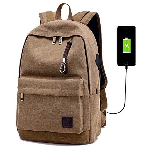 AXROAD MALL Outdoor Casual reisrugzak met USB-oplaadpoort College School Computer Bookbag voor vrouwen en mannen