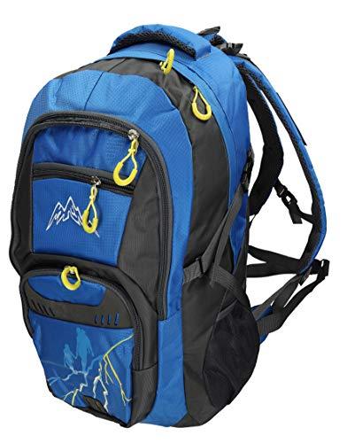 BETZ Mochila Unisex para Viaje Senderismo Camping MÜNCHEN con 4 Bolsillos Volumen 37 litros Color Azul