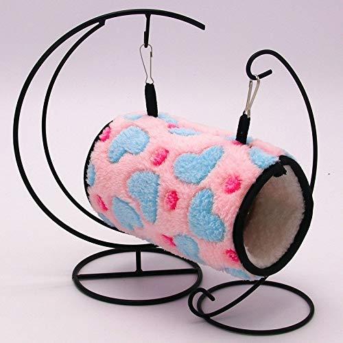 Nido de Mascotas, Material de Felpa Caliente y fácil de Limpiar, Parrot Hamster Tunnel Nido Nido de algodón cálido Grueso Hubeiguodianjunchen (Color : Pink)