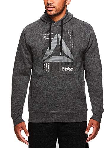 Reebok Sudadera con capucha para hombre con capucha y diseño gráfico - REM173JK02007, M, Carbón Derrotado