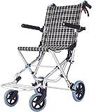 CLJ-LJ Transporte ligero de la silla de ruedas, silla portátil autopropulsada plegable del viaje de la aleación de aluminio del niño minusválidos de la carretilla
