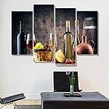 mauroan Toile Peinture HD Vin Affiches Et Estampes Nordic Home Cuisine Décor Salon Chambre Décoration Toile Peinture Mur Art Photo