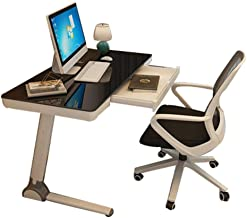 Tempered Glass Desk Computer Surface Laptop Desk Study Writing Desk With Threading Hole Modern Workstation For Home Office...