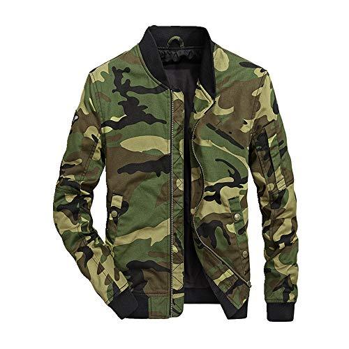 Otoño delgado abrigo de los hombres de la parte superior de béisbol collar militar uniforme delgado camuflaje chaqueta de