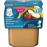 Gerber+Baby+Food%2c+2nd+Foods%2c+Apple+Strawberry+Banana%2c+8+OZ