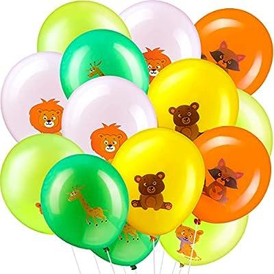 35 Pieces Jungle Safari Animals Balloons 12 Inc...