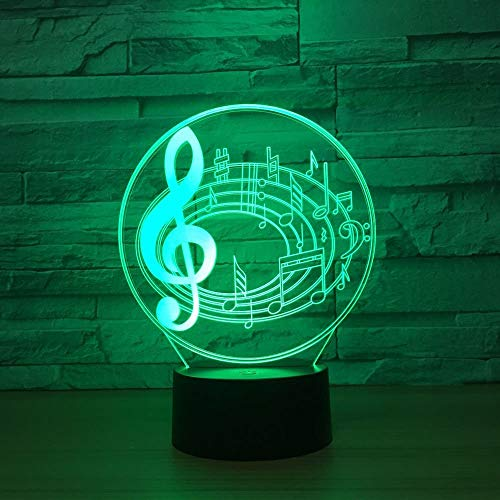 Cargo 3D Stereo Notes Visual Lights Led Atmosphere Night Light Headlamp USB Power Supply 3D Light Fixtures