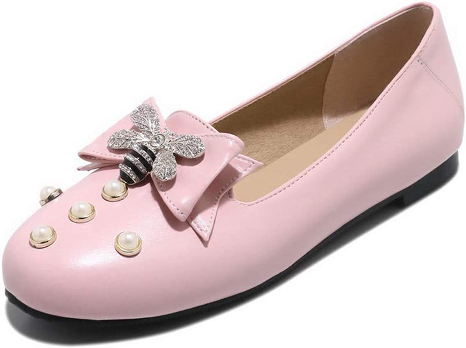 1TO9 Womens Studded Bows Beaded Urethane Pumps shoes MMS06273
