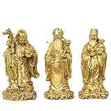 LAOJUNLU Bronzo Ornamenti Artigianali in Rame Puro Fu Lu Shou Sanxian Shou Xing Fu Lu Shou...