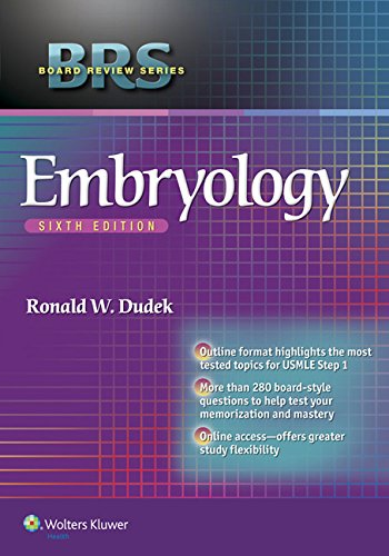 Compare Textbook Prices for BRS Embryology Board Review Series Sixth Edition ISBN 9781451190380 by Dudek PhD, Dr. Ronald W.