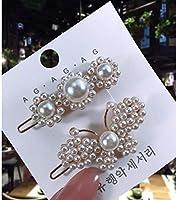 1 セット人気の真珠のヘアクリップ幾何女性夏ヘアアクセサリーヘアピン bb クリップスタイリングツールバレッタ帽子