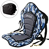ofyou Kayak Seat Padded Deluxe Canoe Seat,Adjustable Boat Seat Cushioned Fishing Seat and Comfortable Backrest Support with Detachable Back Storage Bag