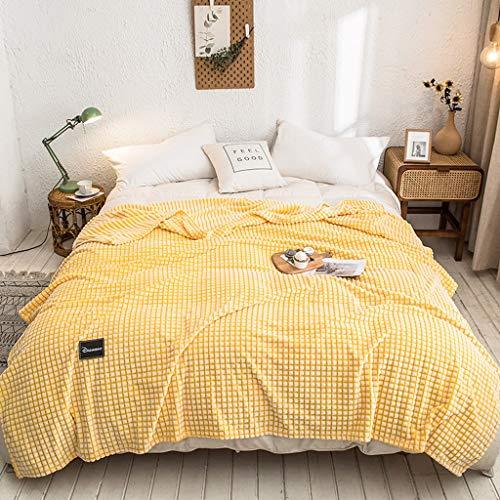 LXDWJ Mantas de Franela con espesos sólidos Suaves para Camas de Tiro a Rayas Sofá Cubierta Cubierta Autumn Otoño Invierno Mantas cálidas Tirar Manta (Size : 150x200cm)