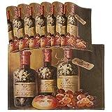 Juego de 6 manteles Individuales de UVA para Copas de Vino Tinto Vintage, manteles Individuales de Cocina limpios y Lavables...