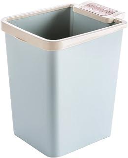 Poubelle à la maison Boîtes à ordures intérieures Poubelle à papier en plastique Poubelle de salle de bain de cuisine avec...