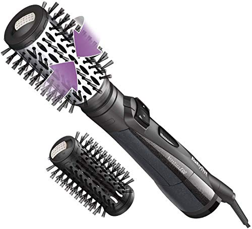 BaByliss AS551E Rotierende Warmluftbürste Brush & Style Ionic, 800 W
