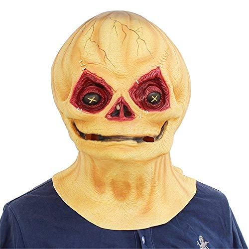 GROSSARTIG Halloween Masker Halloween Pompoen Masker Hoofddeksels Horror Props Grappig Maak Kid Latex Masker