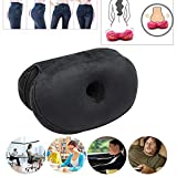 jialixing Dual Comfort Cushion Lift Hips Up Beautiful Buttocks Seat Cushion Latex Orthopedic Posture Correct Cushion for Relief Sciatica Tailbone Hip Pain Fits in Car, Home Office