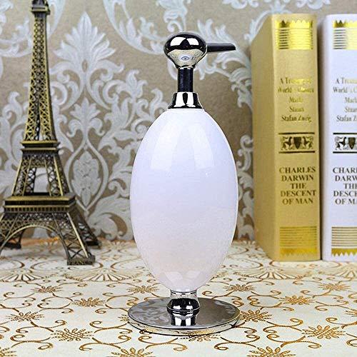 Pompa del distributore di sapone, bottiglia di shampoo Contenitori bianchi nobili con scintillio Ugello della pompa a mano argento facile da riempire Applicare al bagno Hotel Cucina erogatore di sapon