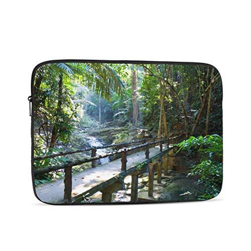 Portátil manga bolsa tranquilo camino bosque paisaje Tablets maletín ultraportable lona protectora para