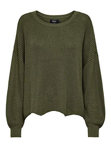 ONLY Damen Onlhilde Life L/S KNT Noos Pullover, Olive, XS